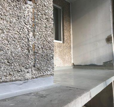 Võlvi tänava kortermaja rõdude renoveerimine. Vedelplast rõdukate