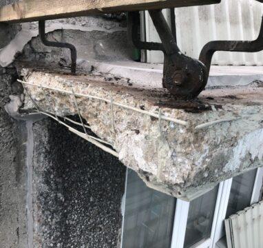 Korterelamu rõdude remont ja betooni saneerimine.