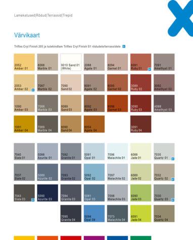 Triflex Cryl Finish Colors