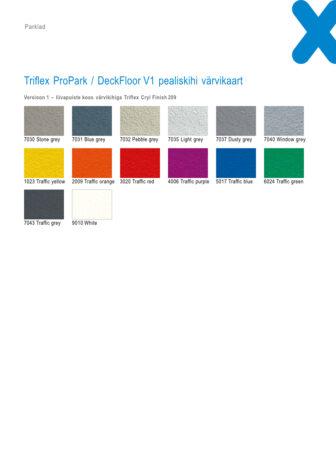 Triflex ProPark_DeckFloor v1 värvikaart