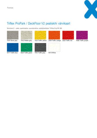 Triflex ProPark_DeckFloor v2 värvikaart